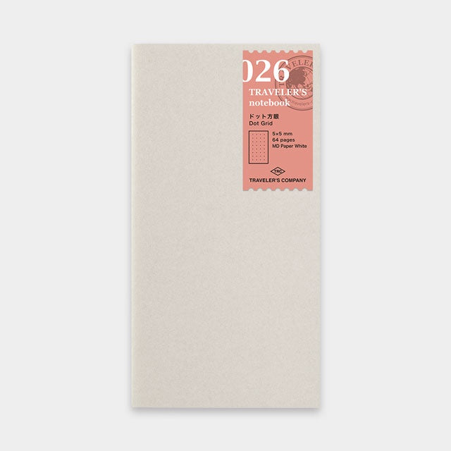 TRAVELER'S Company 026 Dot Grid Notebook Refill