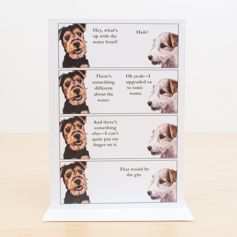 Water Bowl Upgrade Dog Greeting Card