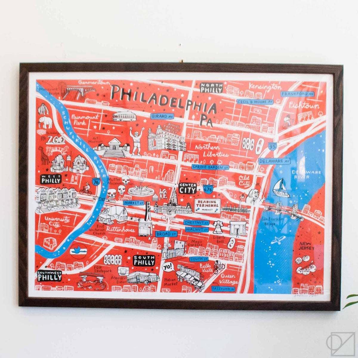 Brainstorm x Omoi Zakka Shop Philadelphia Map