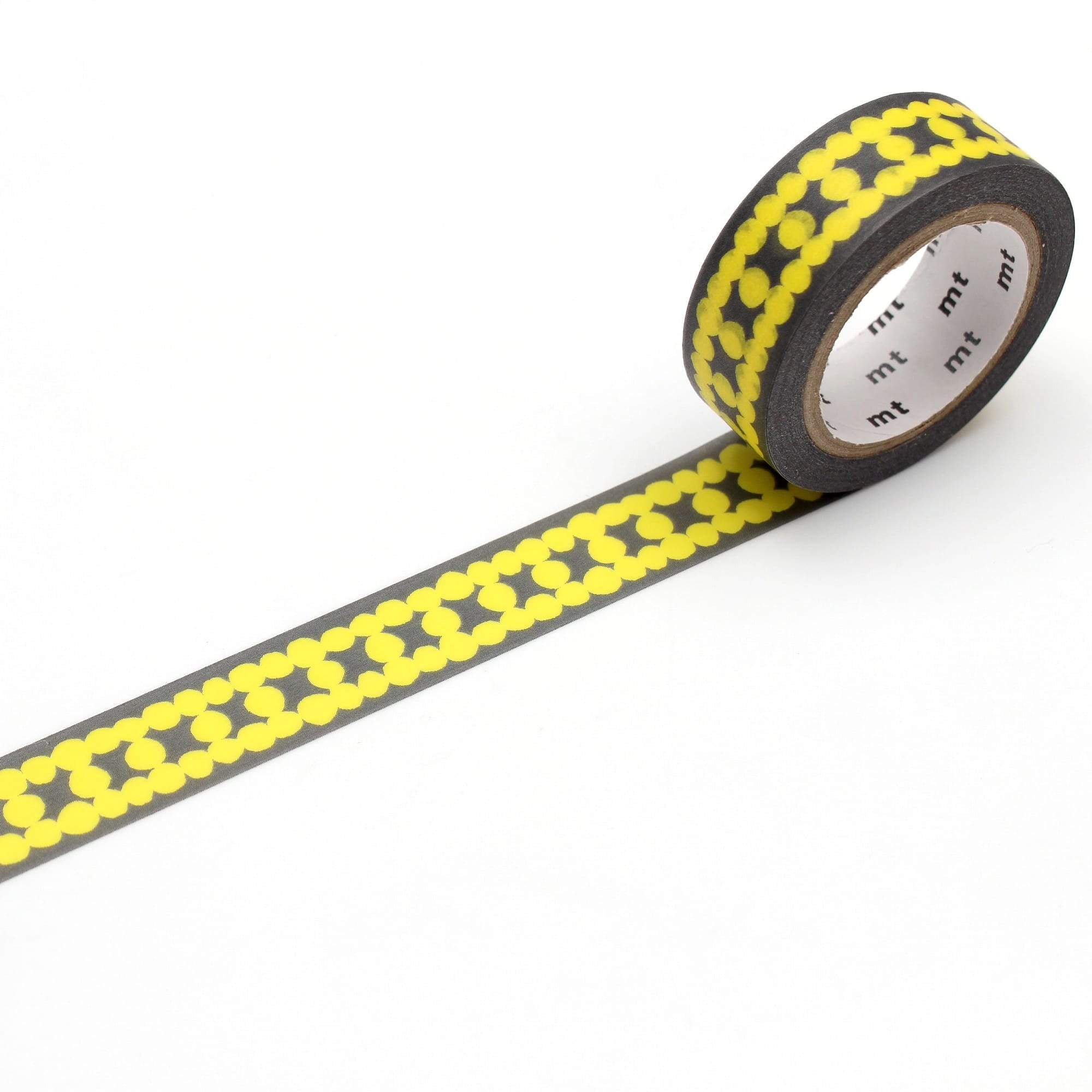 mt Washi Tape Yellow Ladder Dot