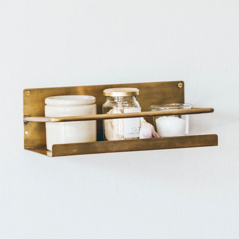 Fog Linen Work Brass Shelf
