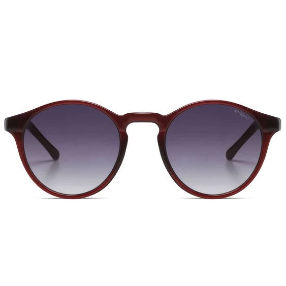 KOMONO Devon Sunglasses in Burgundy