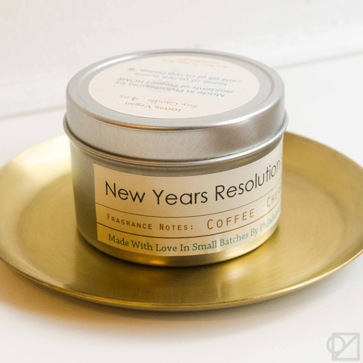 Project HOME New Year's Resolution Candle Tin