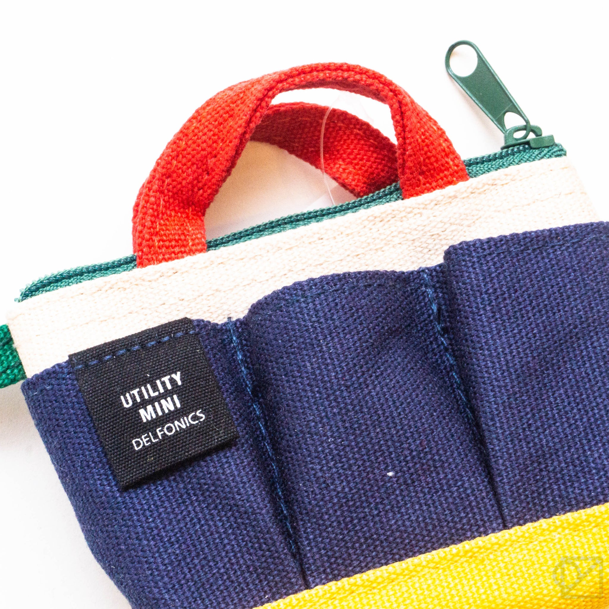 Delfonics Utility Mini Tote Keychain | Primary Color-Block