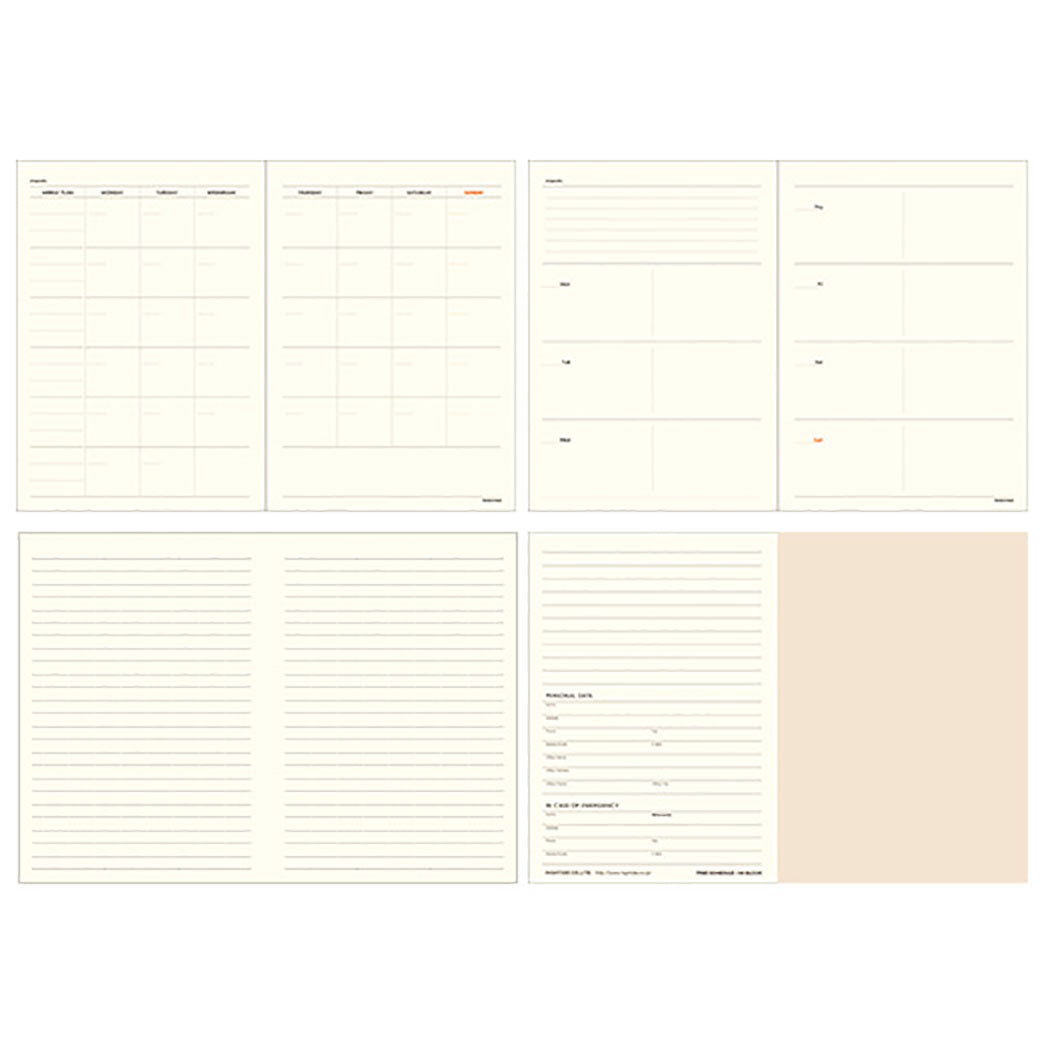 HIGHTIDE A6 Weekly Open-Dated Planner Refill