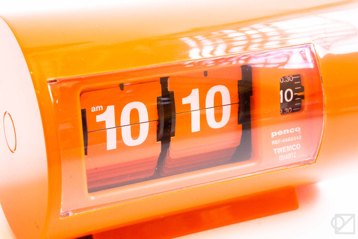 PENCO Desk Clock Orange
