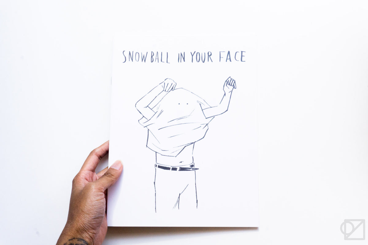 noritake 'SNOWBALL IN YOUR FACE' Illustrated Noteook