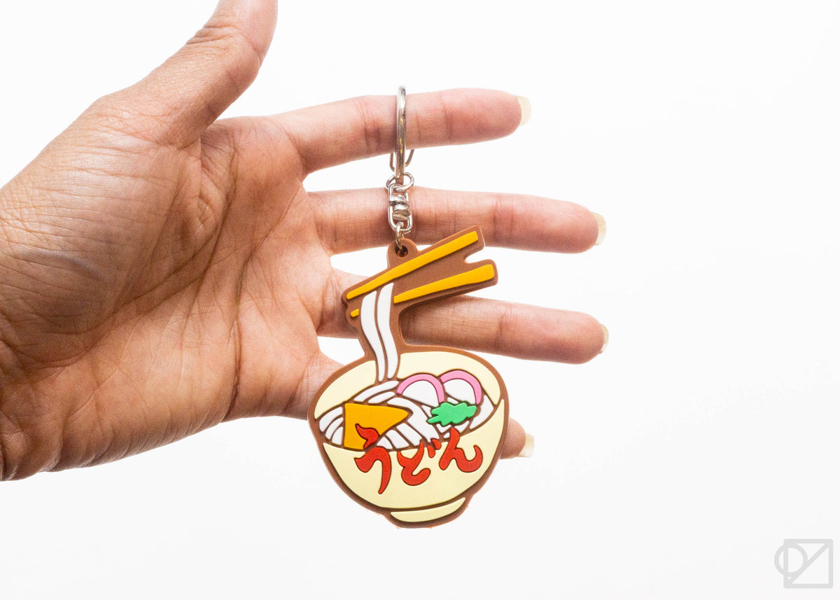 Retro Japanese Rubber Keychain