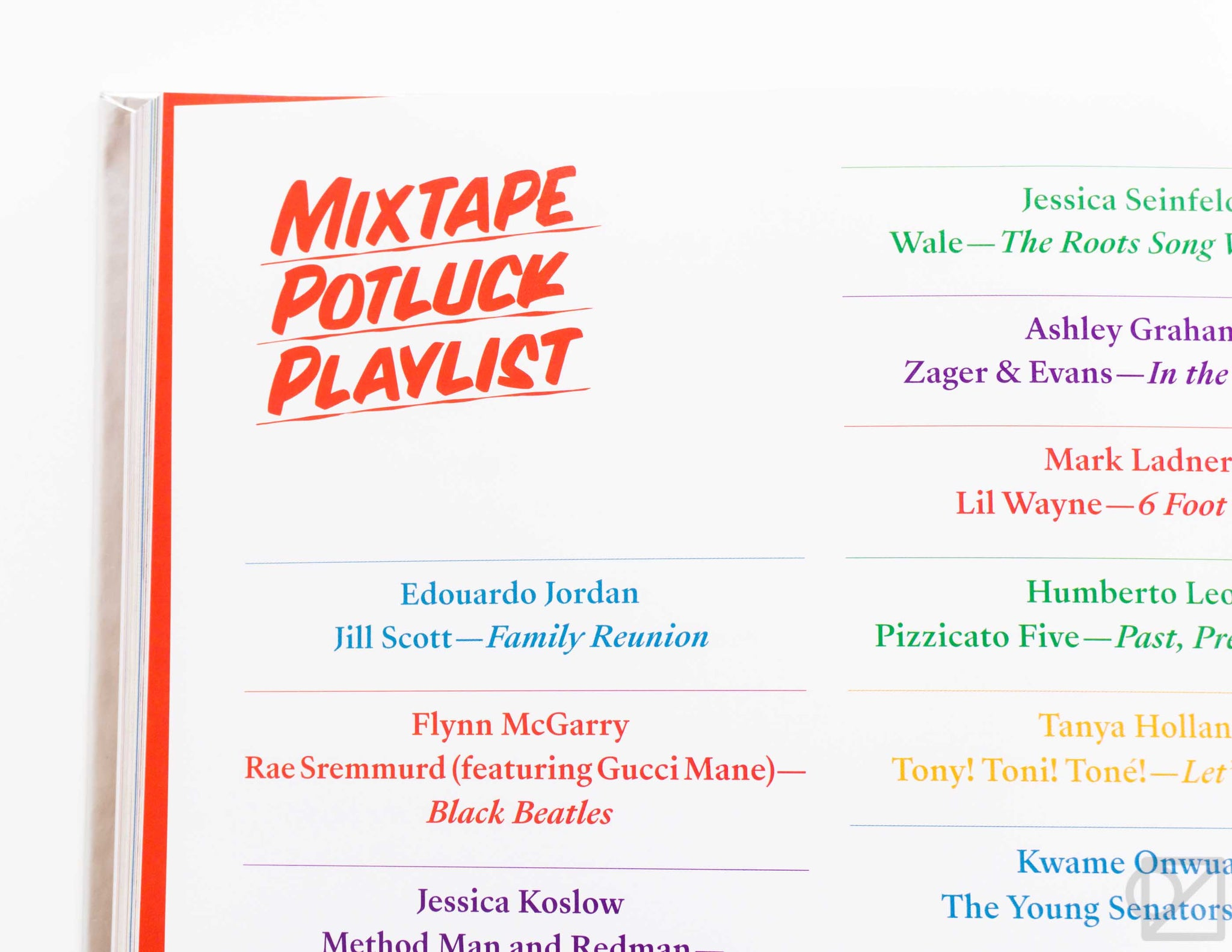 Mixtape Potluck Cookbook