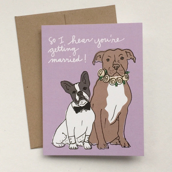 Wedding Dogs Congrats Greeting Card