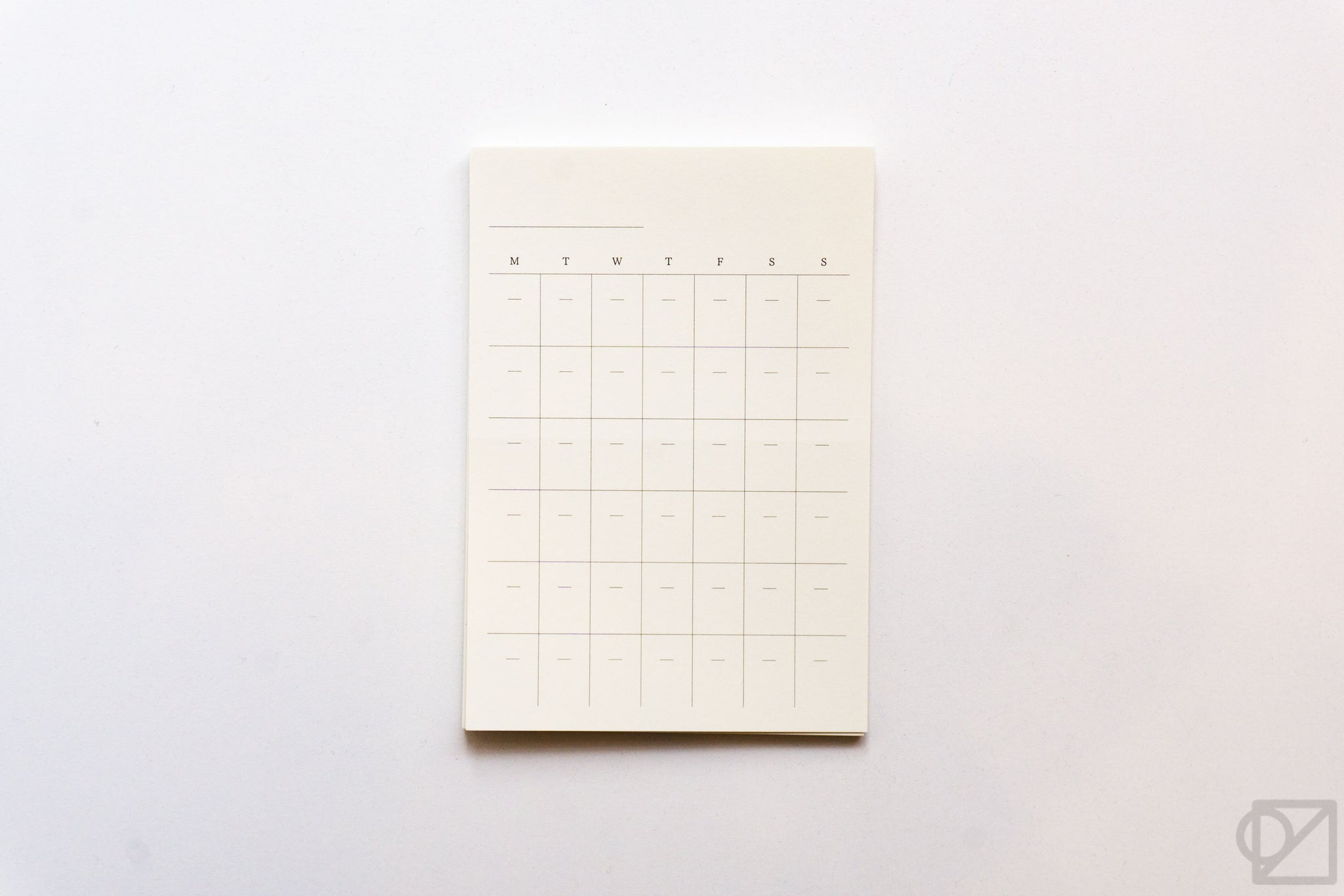 MD Monthly Calendar Stickers