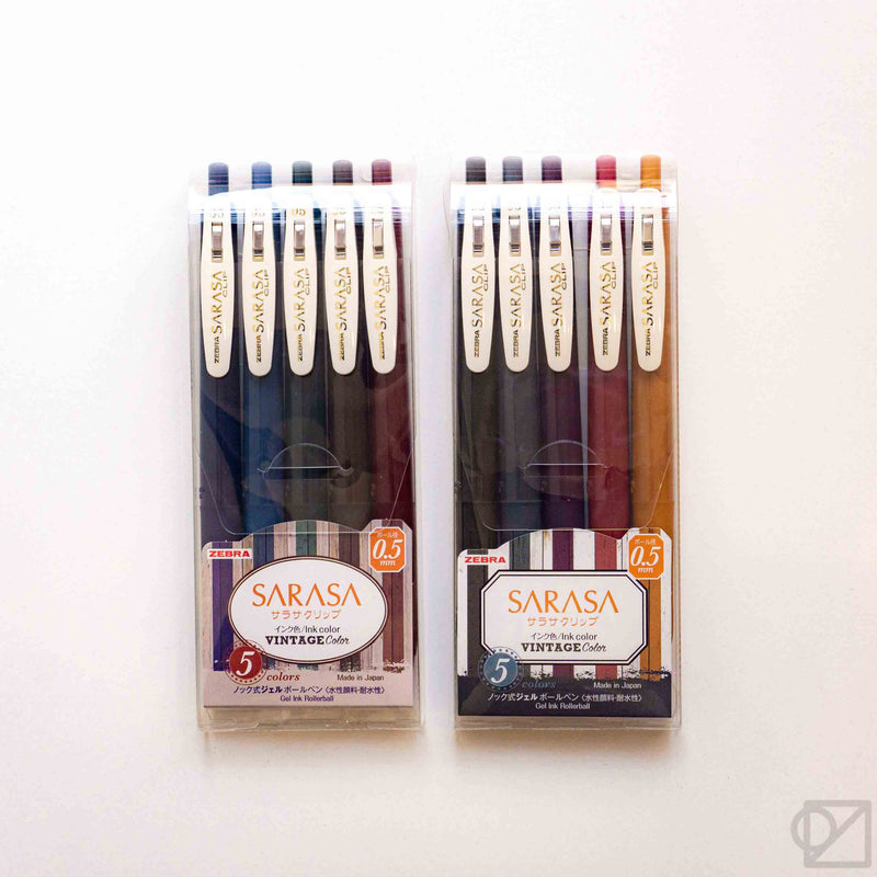 Zebra SARASA Vintage 0.5mm Gel Pen Set