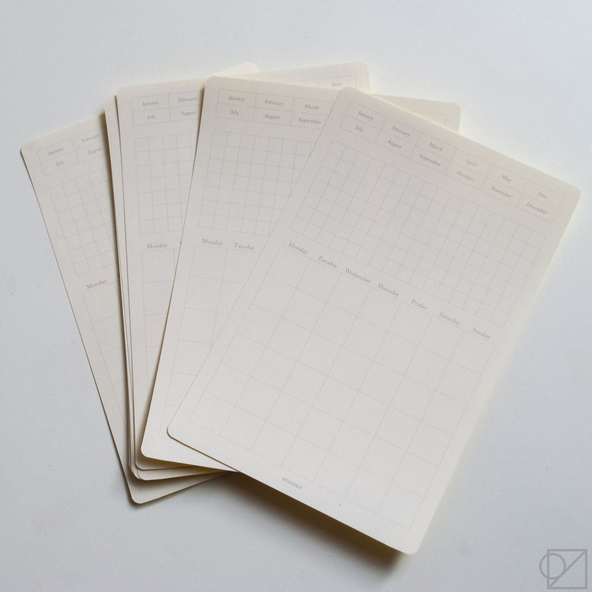 STÁLOGY 024 Removable Calendar Sticker includes 13 sheets