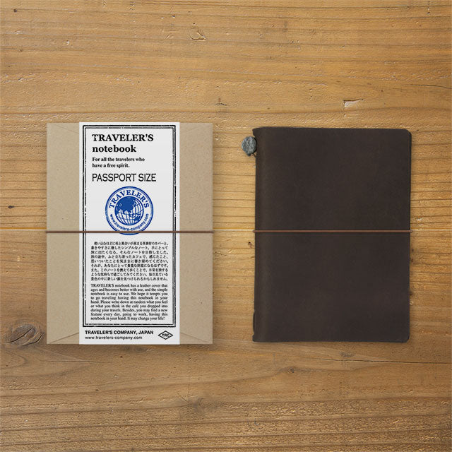 Midori TRAVELER'S Company Passport Leather Journal Starter Kit Brown