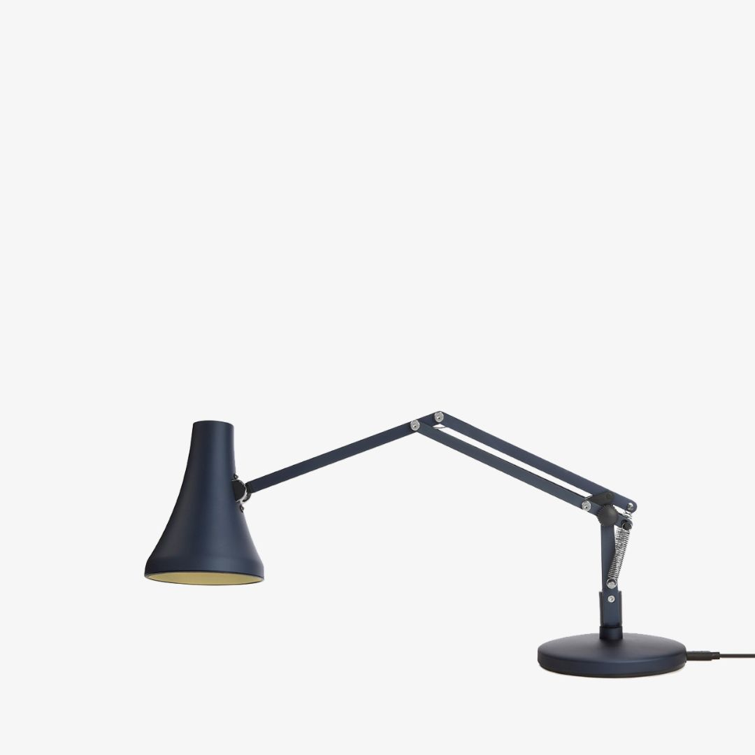 Anglepoise 90 Mini Mini Desk Lamp | Steel Blue & Grey