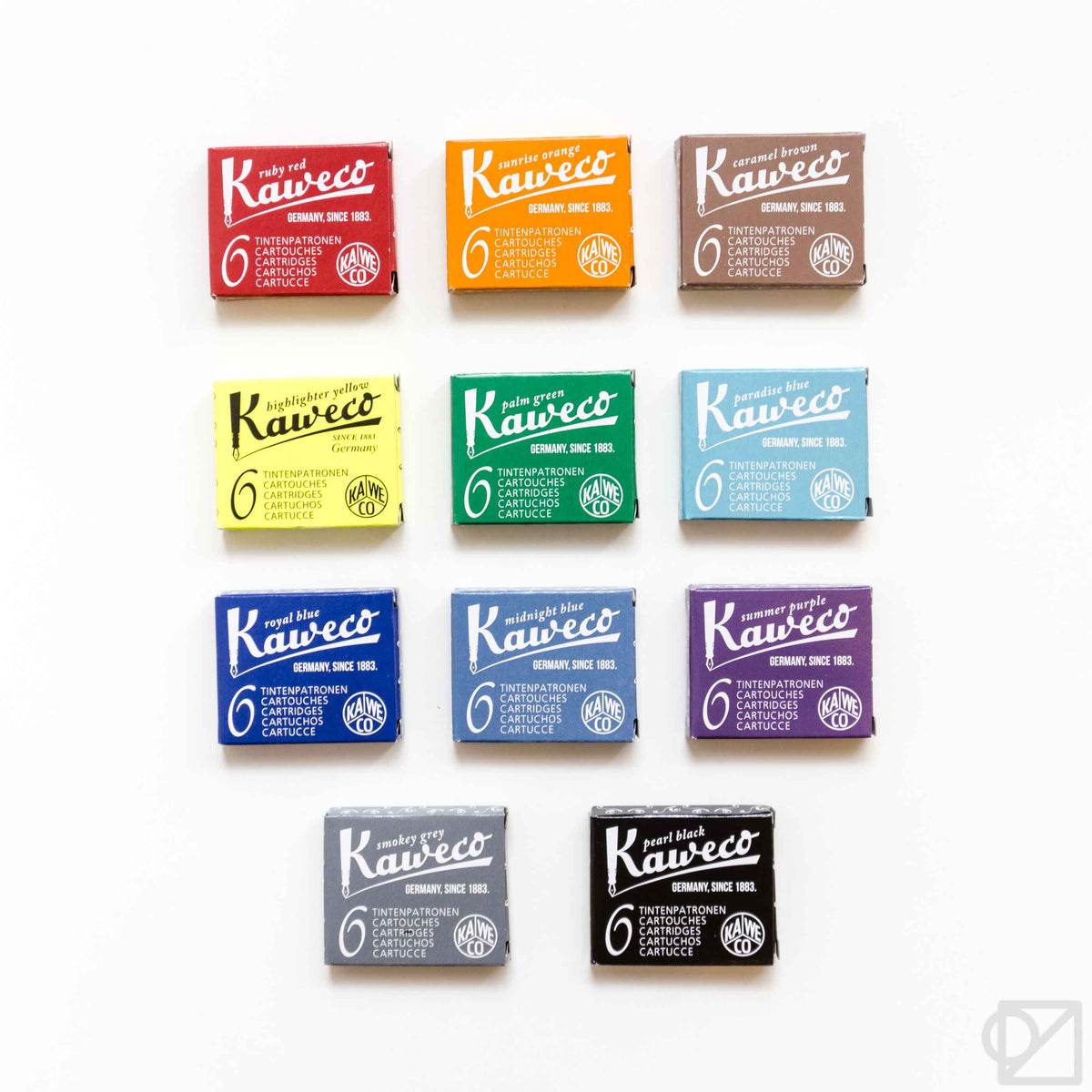 Kaweco Refill Fountain Pen Ink Cartridges 6 pack