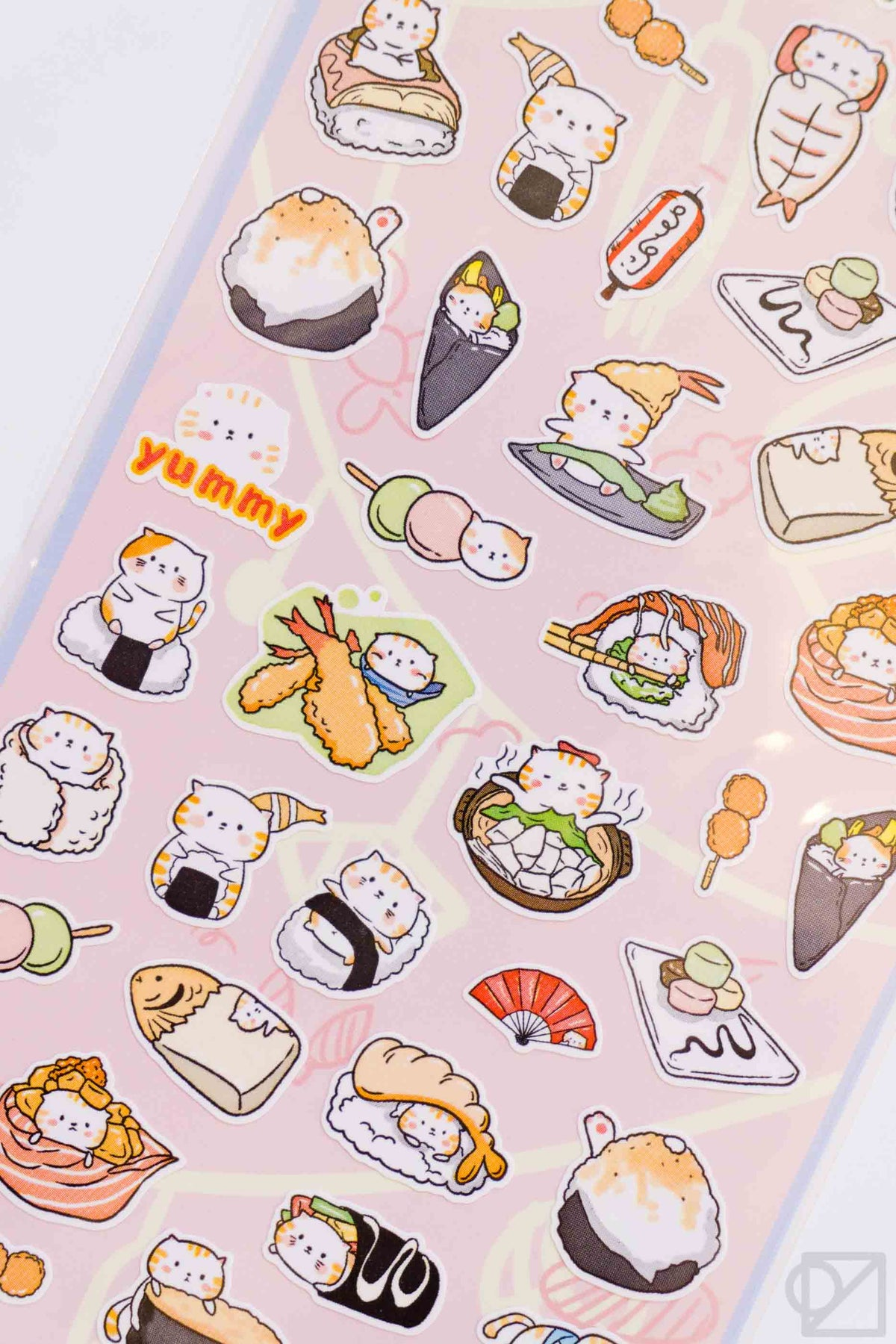 Nekoni Sushi Cat Stickers