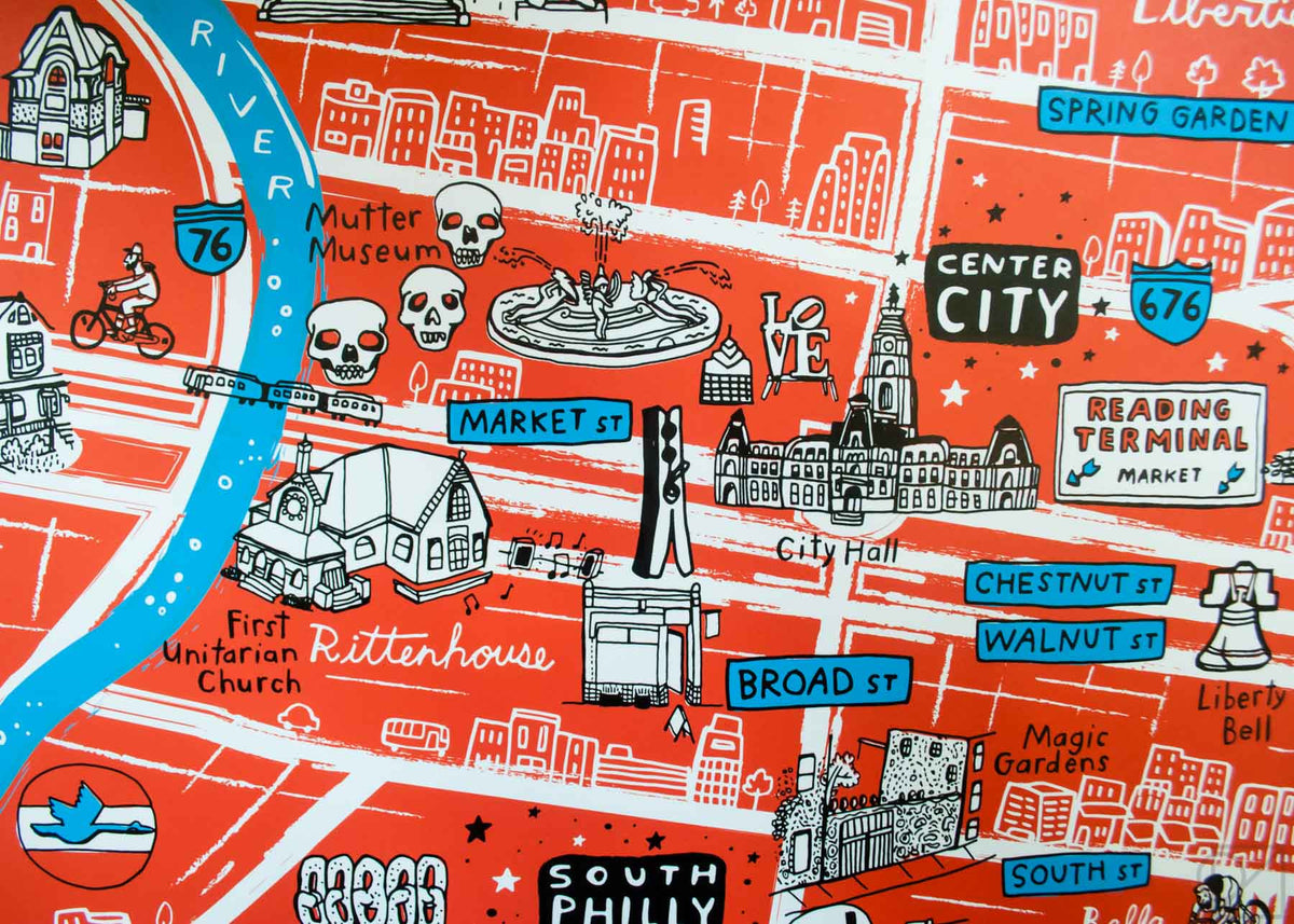 Center City on Brainstorm x Omoi Zakka Shop Philadelphia Map