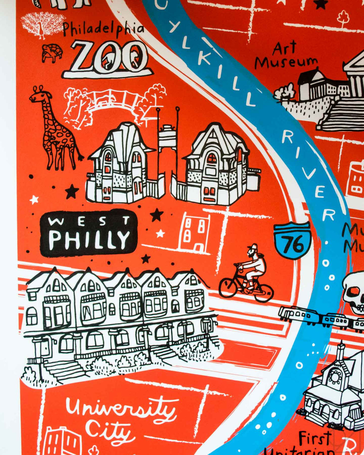 West Philly Victorians and Philadelphia Zoo on Brainstorm x Omoi Zakka Shop Philadelphia Map