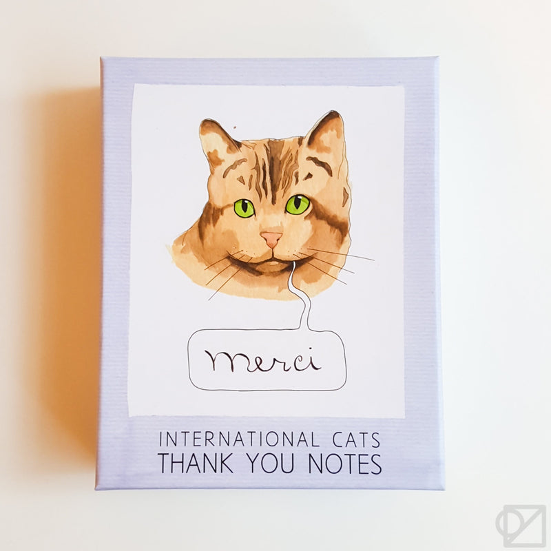 International Cats Thank You Card Box Set