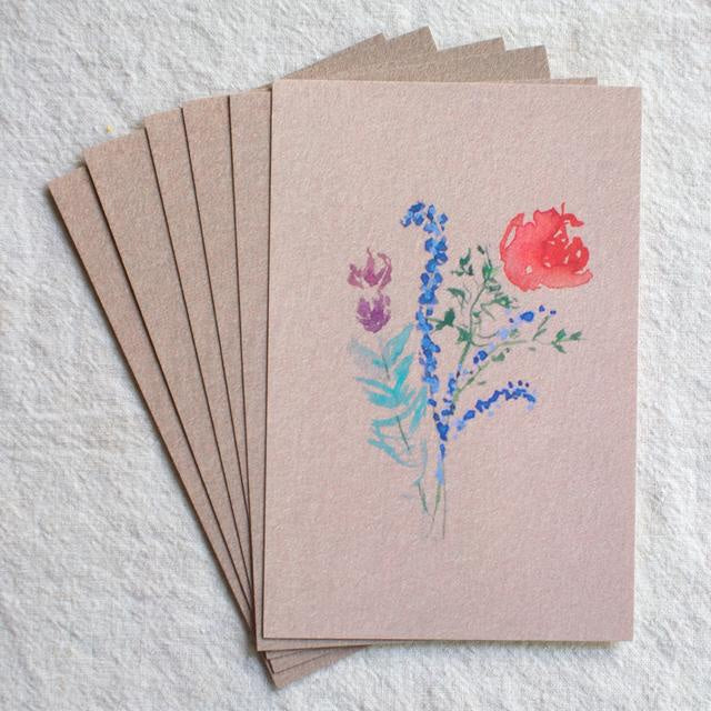 Rose Bouquet Postcard Set