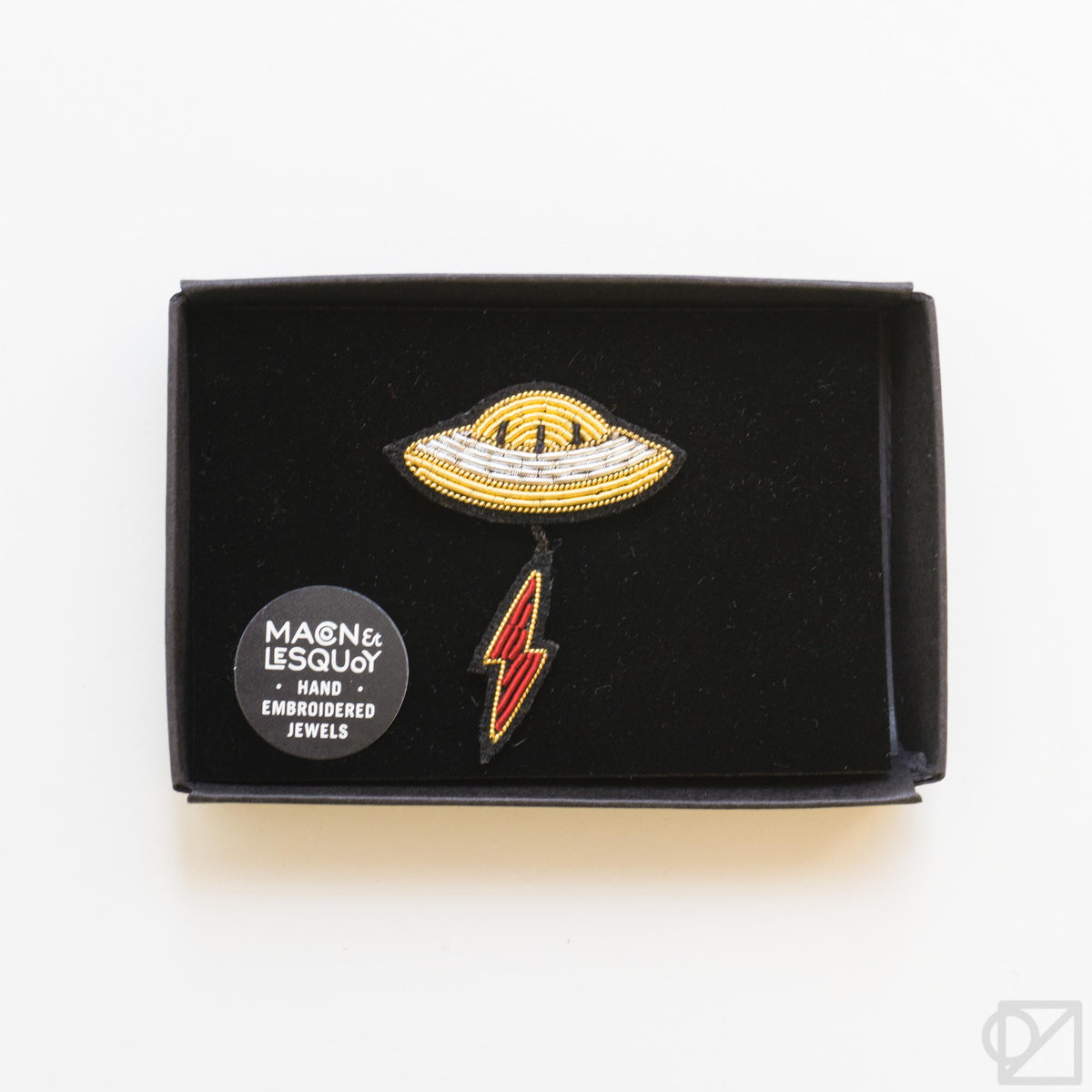 Macon & Lesquoy UFO Hand Embroidered Pin