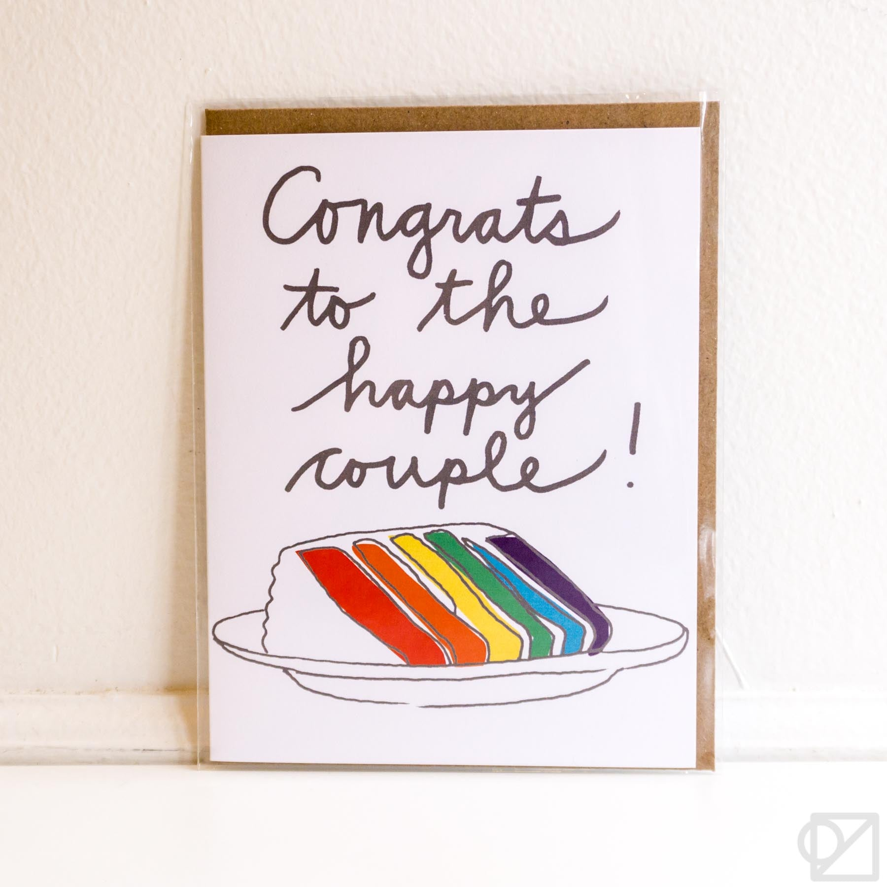 Gay Cake Wedding Card