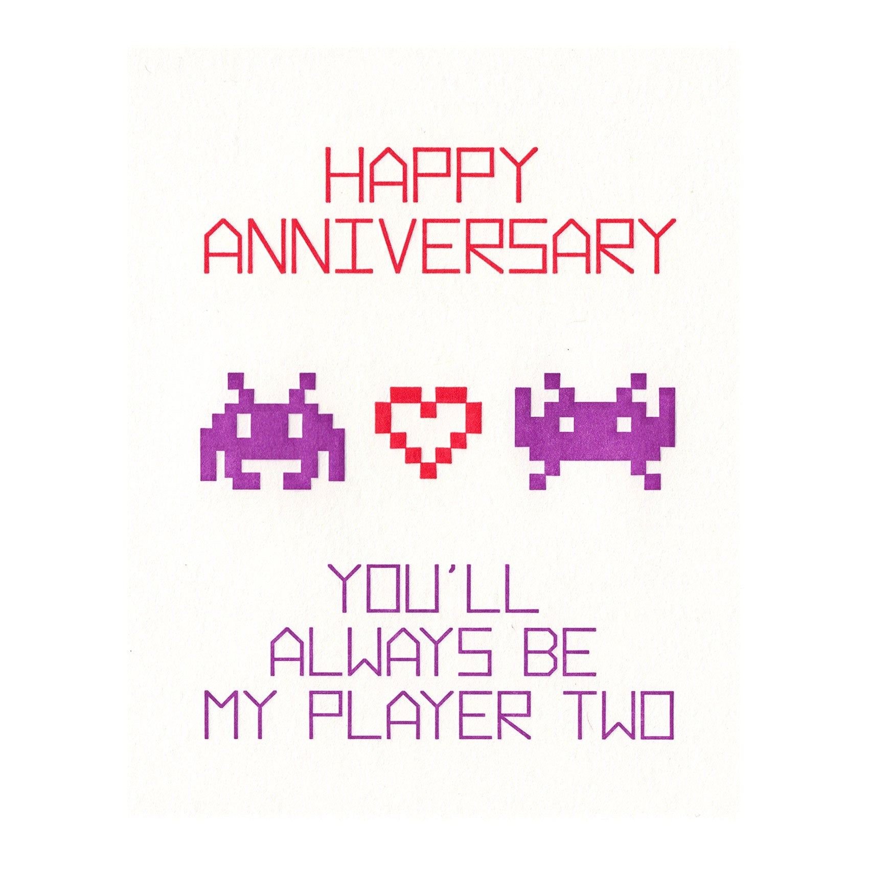 Player Two Anniversary Card