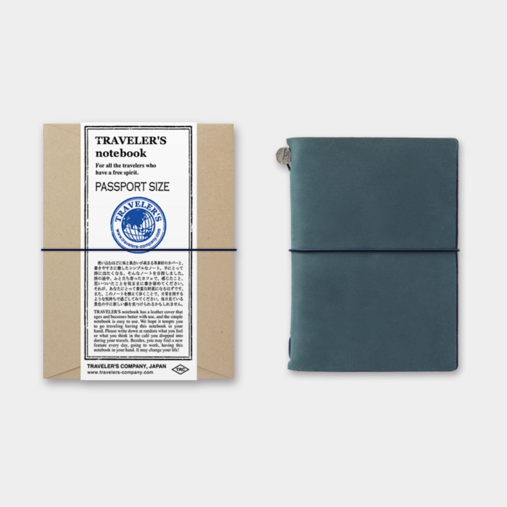 TRAVELER'S Company Passport Leather Journal Starter Kit Blue