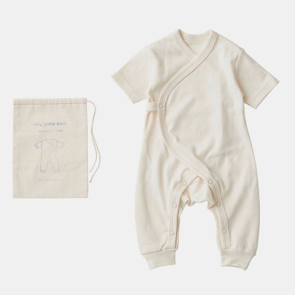 Fog Linen Work Organic Cotton Baby Jumpsuit