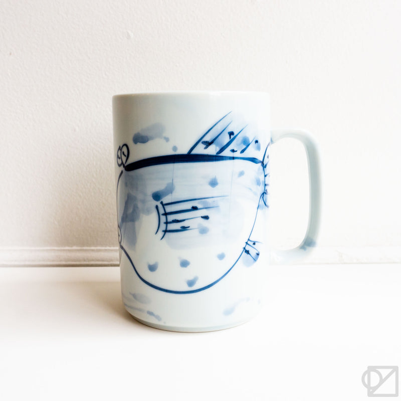 Blue Fugu Fish Mug