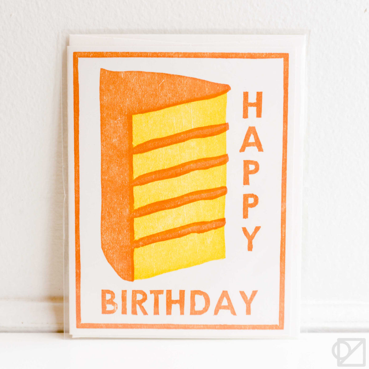 Happy Birthday Cake Letterpress Card