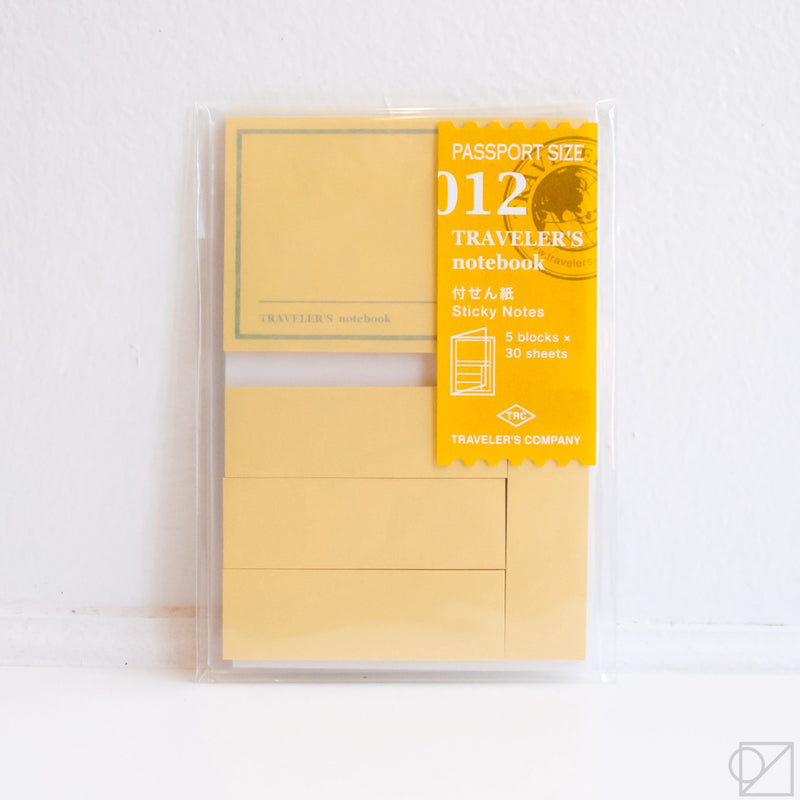 Traveler's Company Passport 012 Sticky Notes