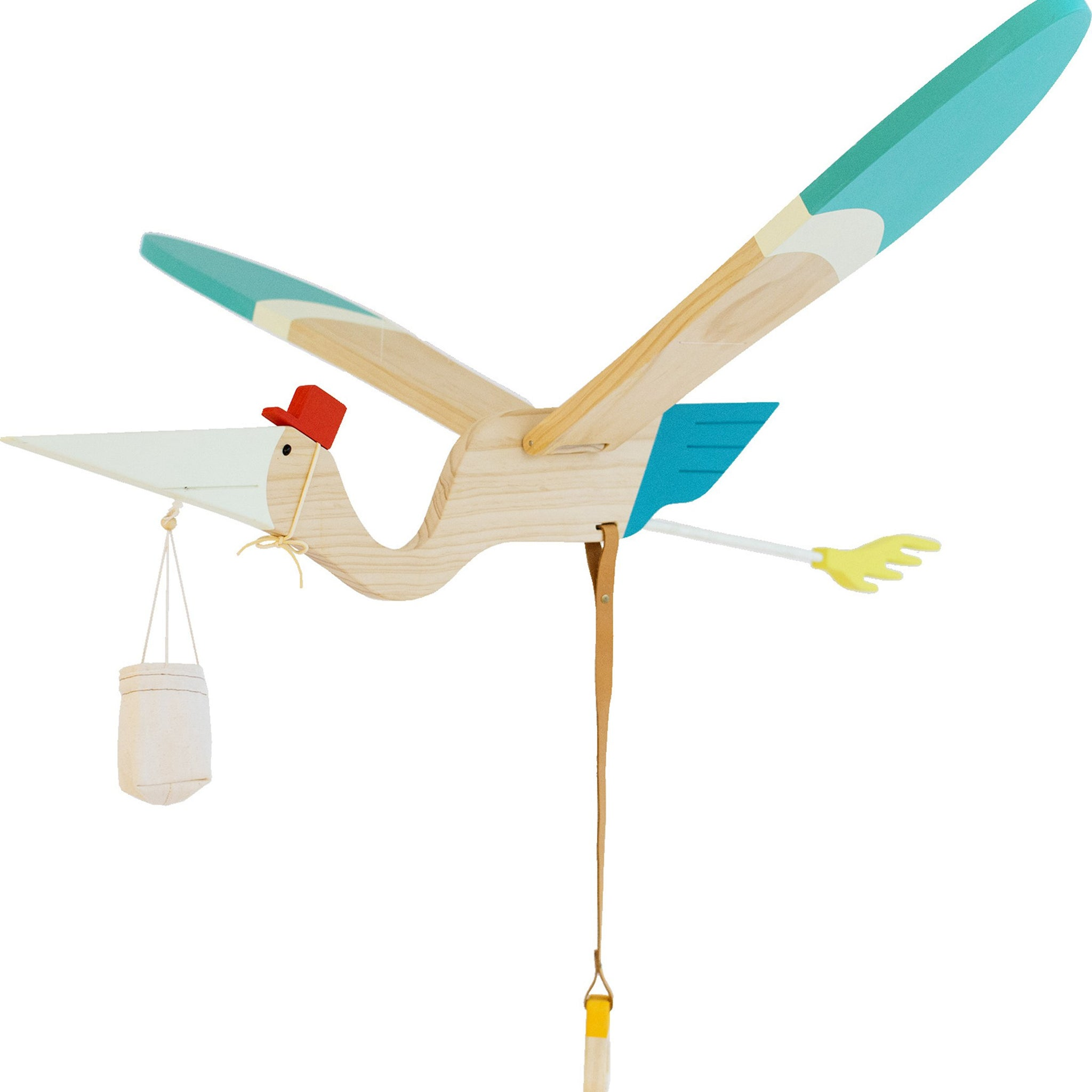 Pelican Wooden Hanging Mobile