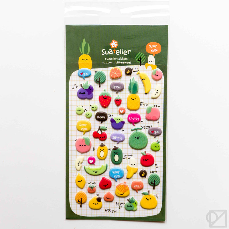 Suatelier Fruit Puffy Stickers