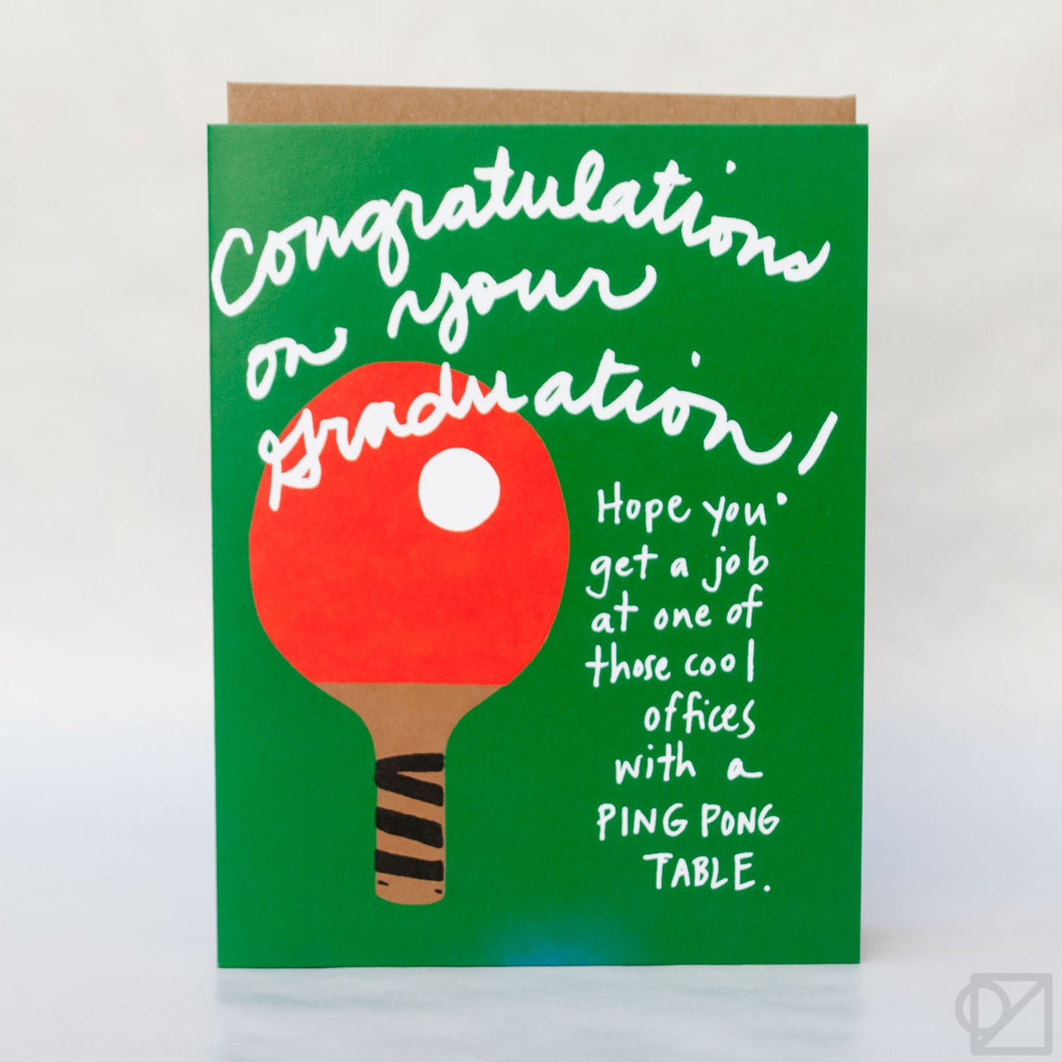 Ping Pong Graduation Day Greeting Card