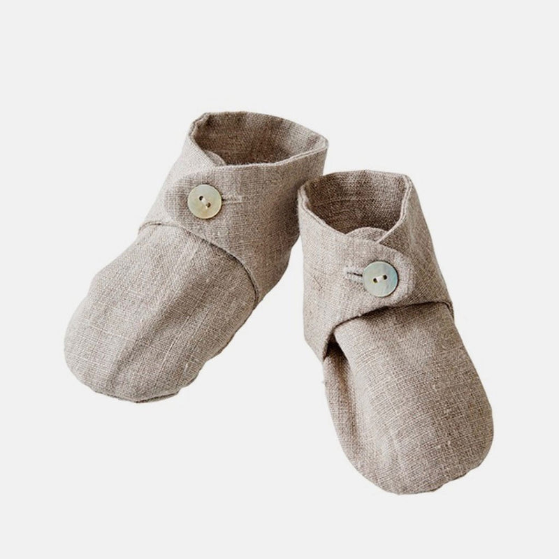 Fog Linen Work Baby Booties