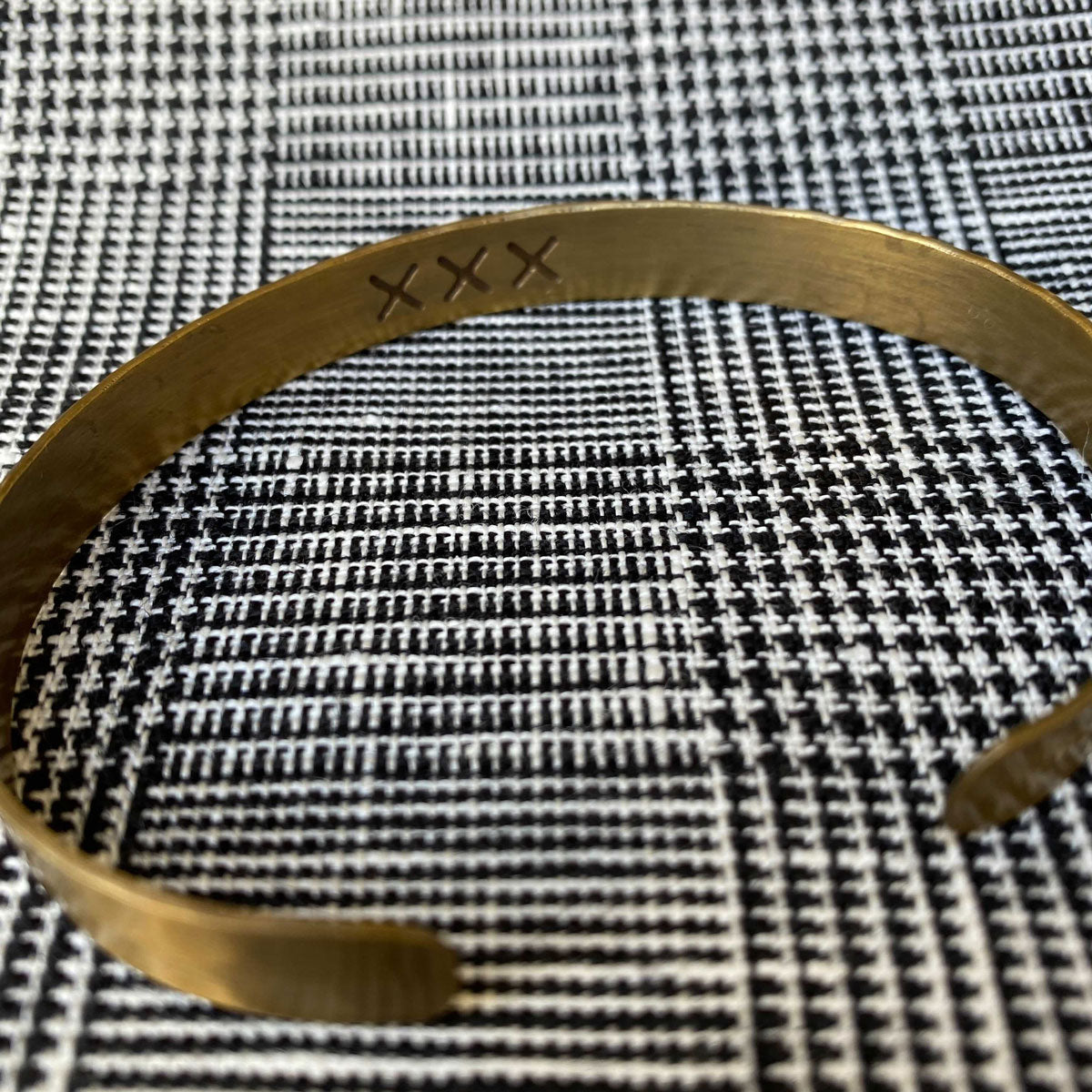 Fog Linen Work Brass Band Cuff Bracelet