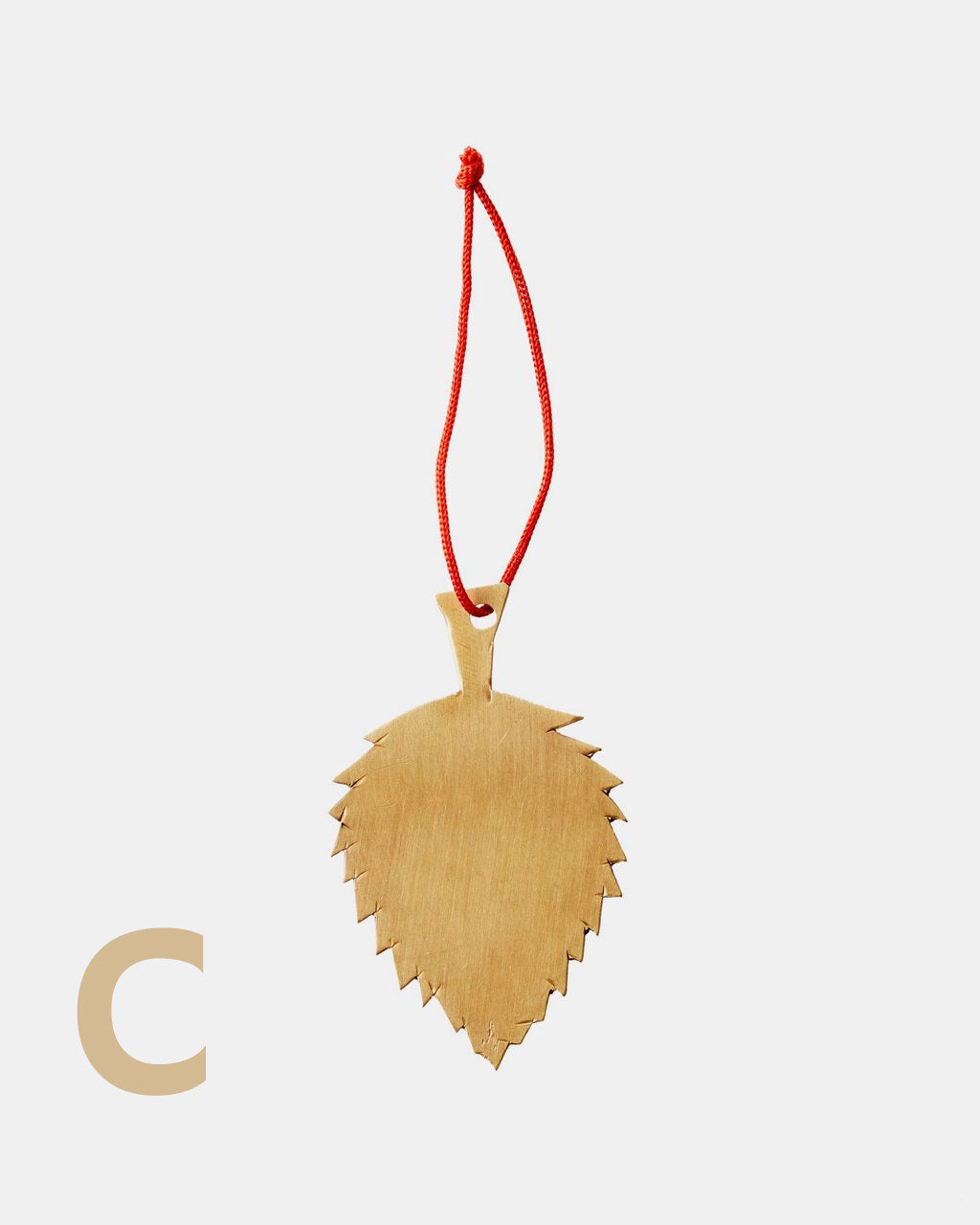 Fog Linen Work Brass Leaf Ornaments