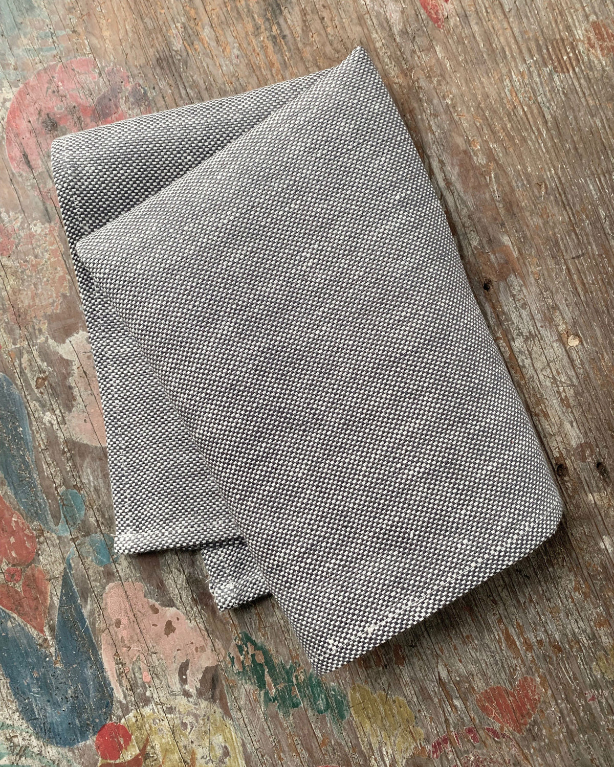 Fog Linen Work Dish Cloth Thick Chambray Grey | Set of 2