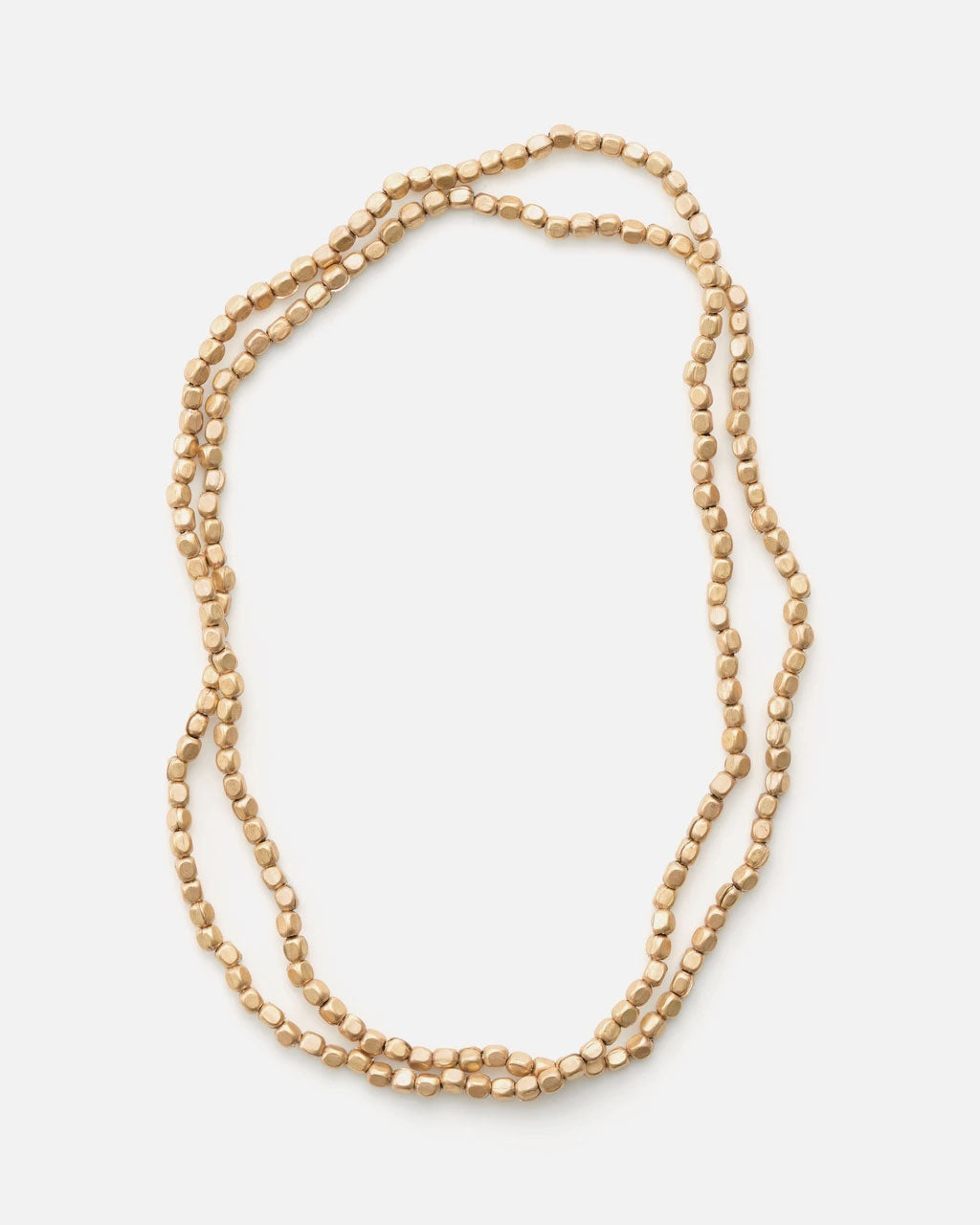 Fog Linen Work Brass Bead Necklace