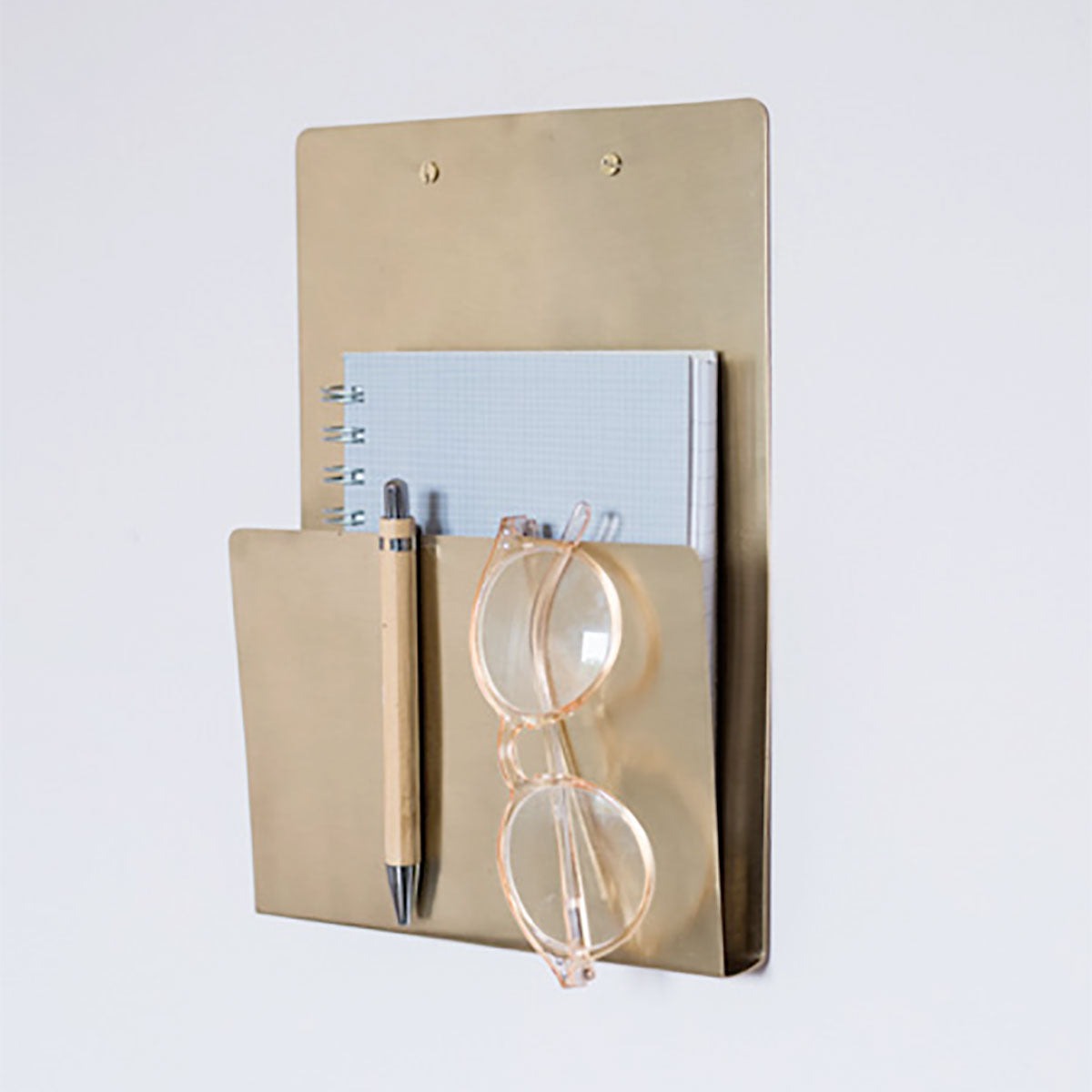 Fog Linen Work Brass File Folder
