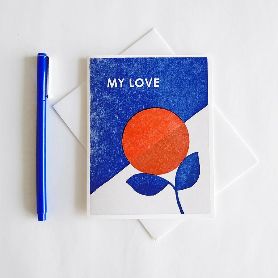 My Love Letterpress Card
