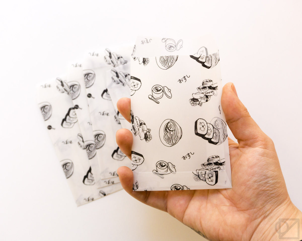 Tiny Wax Paper Envelope Sushi