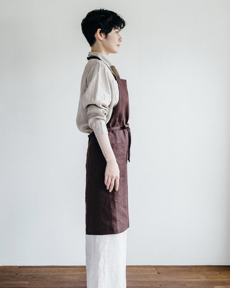Fog Linen Work Daily Apron Caffee
