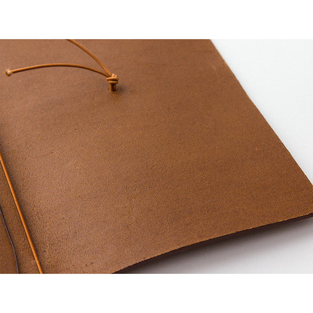 Midori Traveler's Note Leather Journal Starter Kit Camel