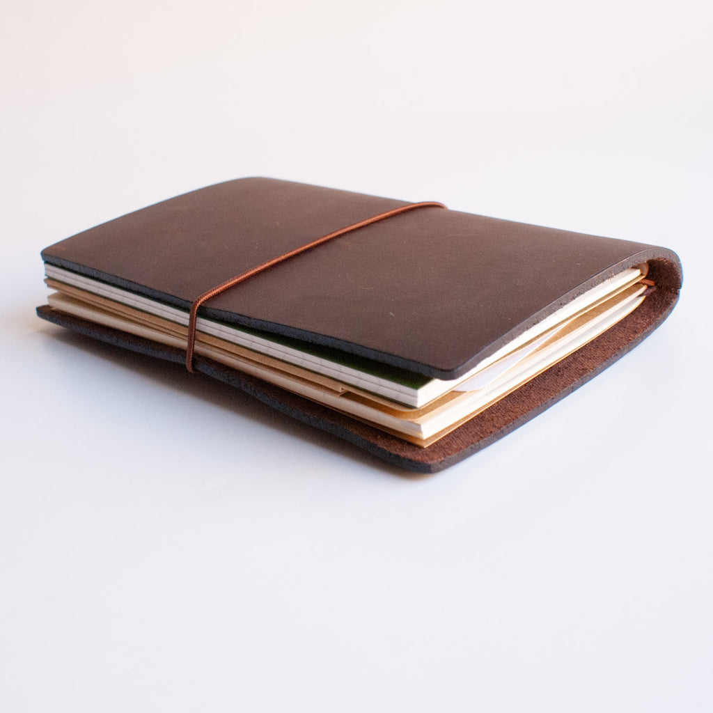 Midori Traveler's Notebook Leather Journal Brown
