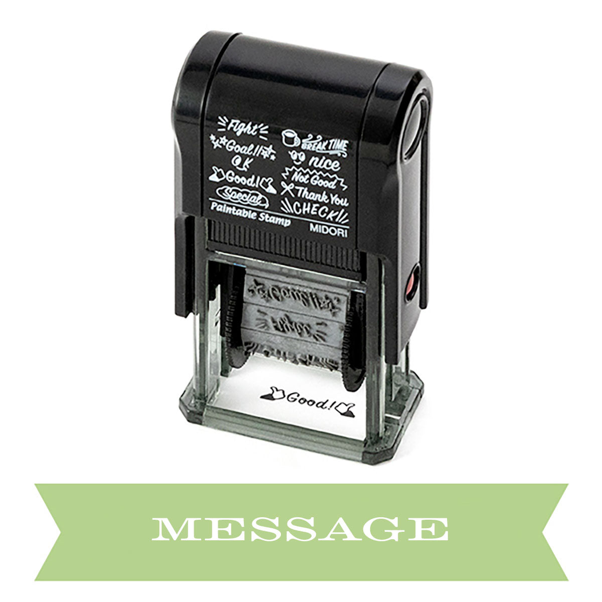 Midori Color-In Planner Stamp Message
