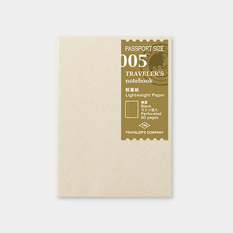 Midori Traveler's Note Passport: 005 Lightweight Paper Notebook Refill updated