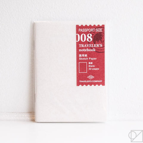 Midori Traveler's Note Passport: 008 Sketch Paper Notebook Refill